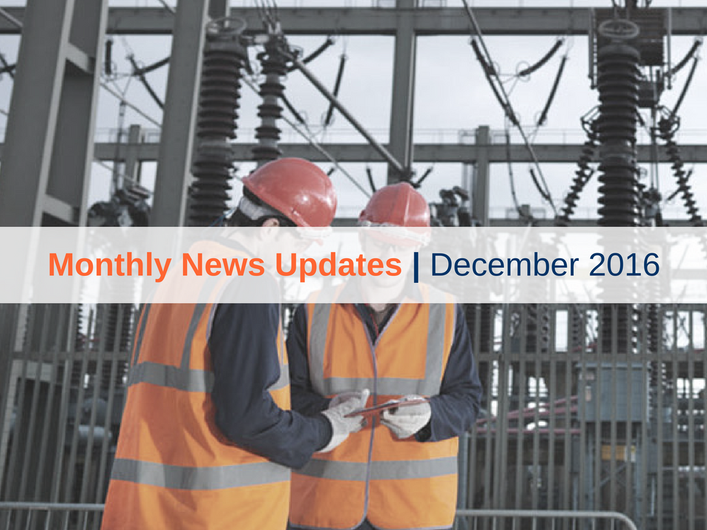 Monthly News Updates – December 2016